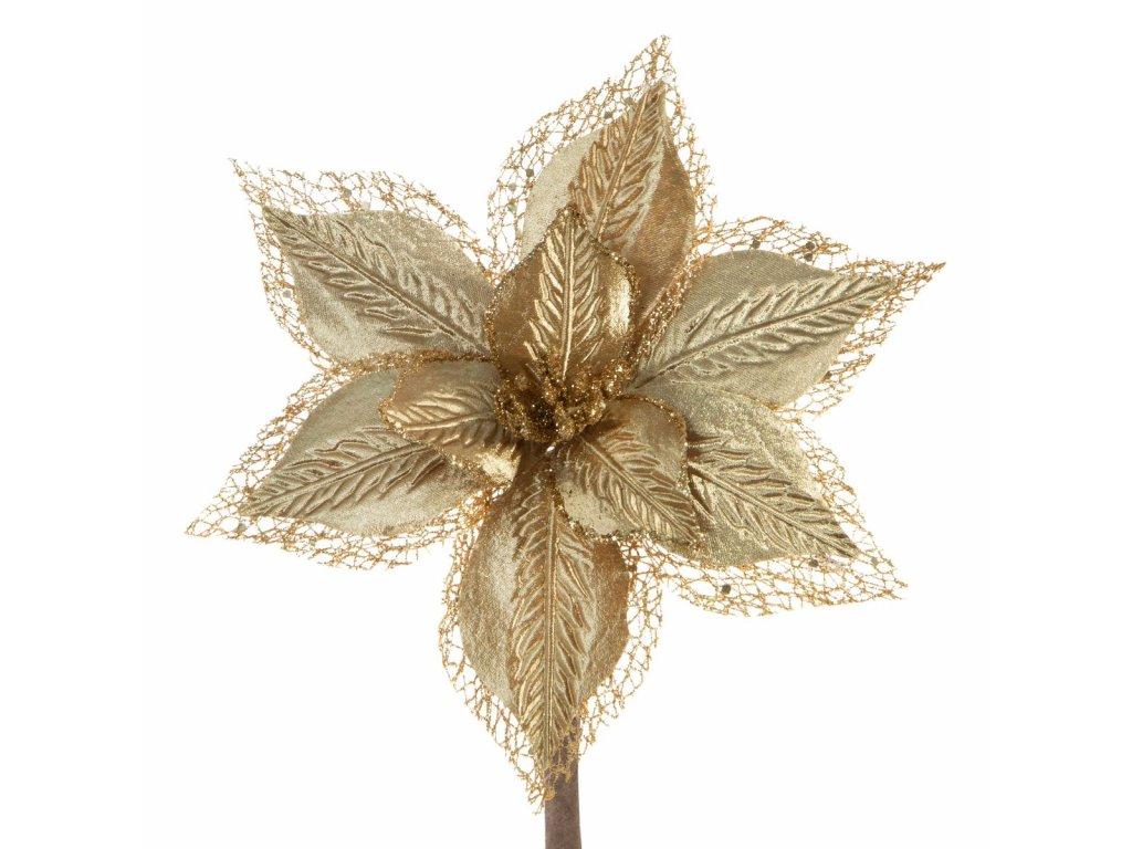 Luxusní vánoční květ krémový 66