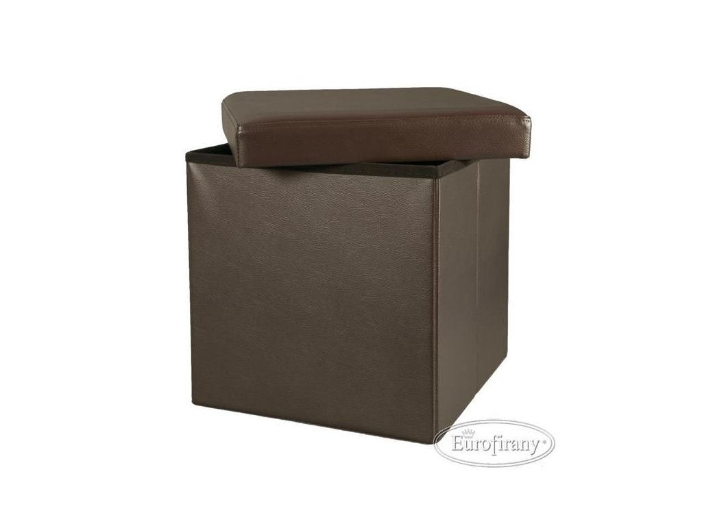 Úložná taburetka/box Hnědá