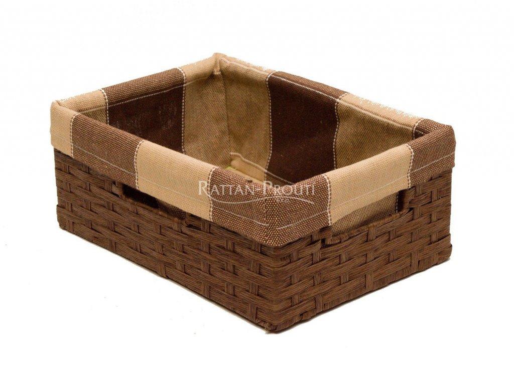 Úložný box HNĚDÝ 21x30x12 cm
