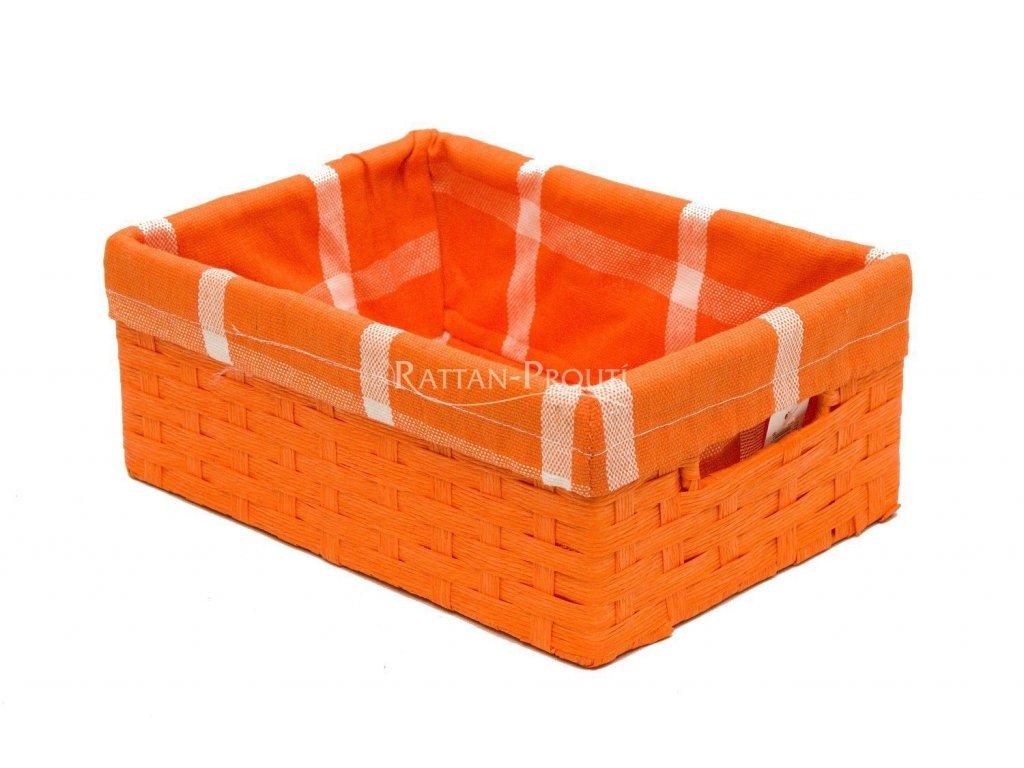 Úložný box ORANŽOVÝ 40x27x16 cm