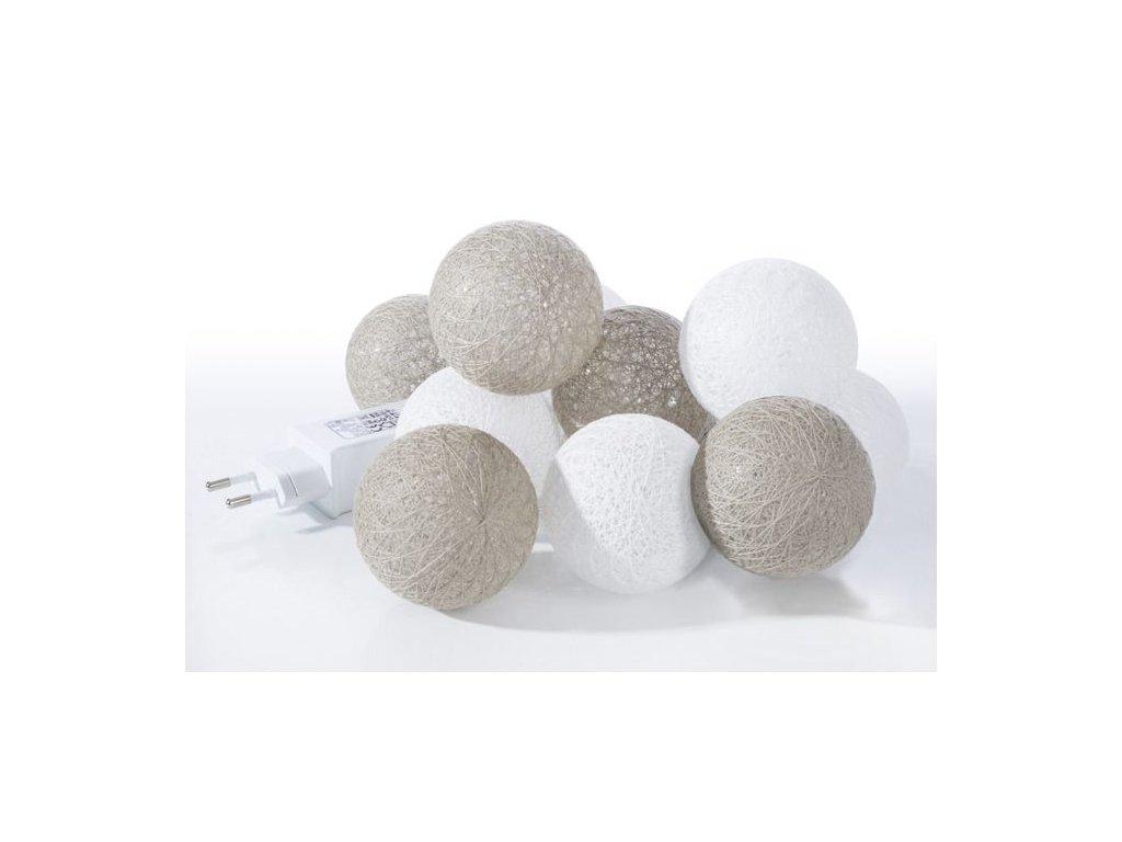 Světelný řetěz COTTON BALL 10 mix2- adapter