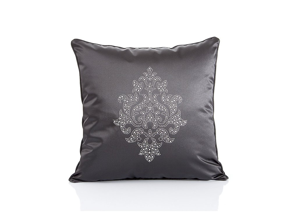 Luxusní dekorační polštář 45x45 DAMASK Černá