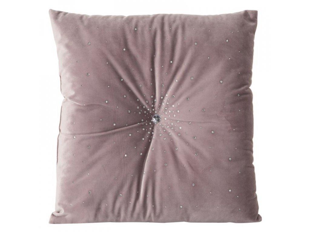 Povlak na polštář 45x45 MISTY Velvet Růžová