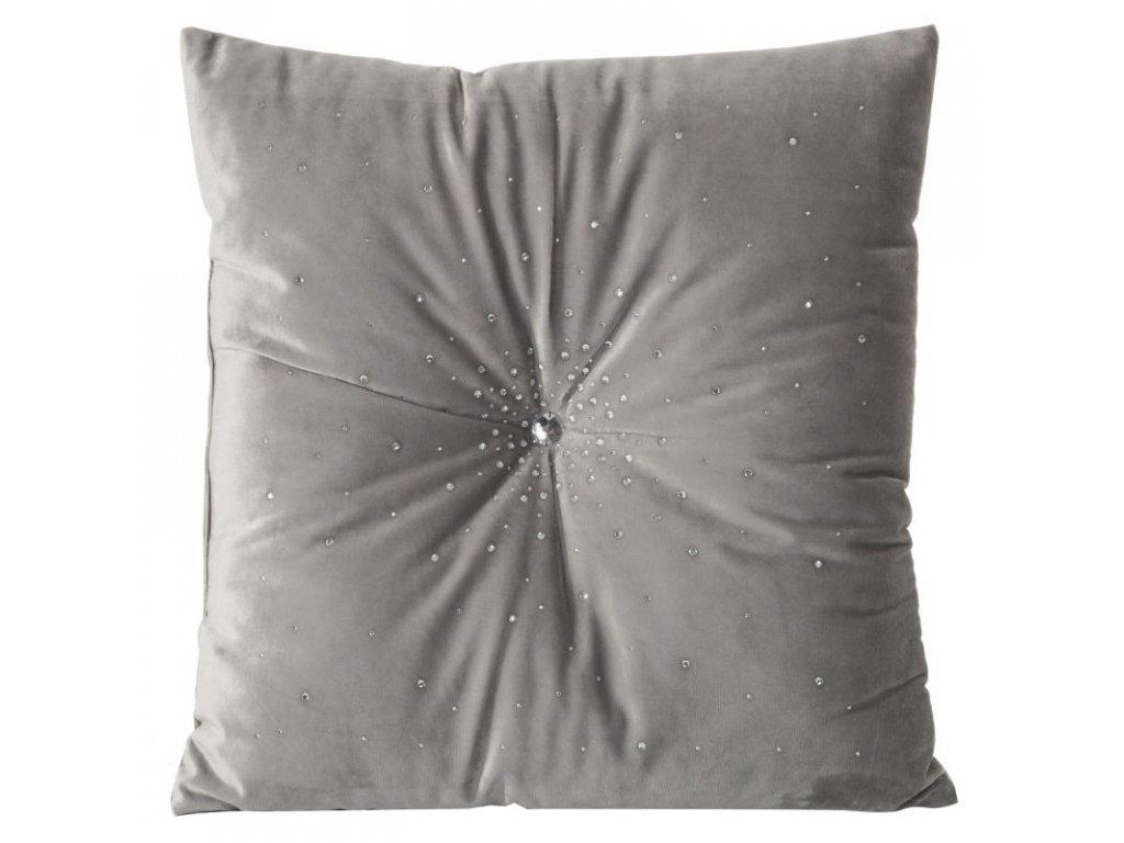 Povlak na polštář 45x45 MISTY Velvet Stříbrná