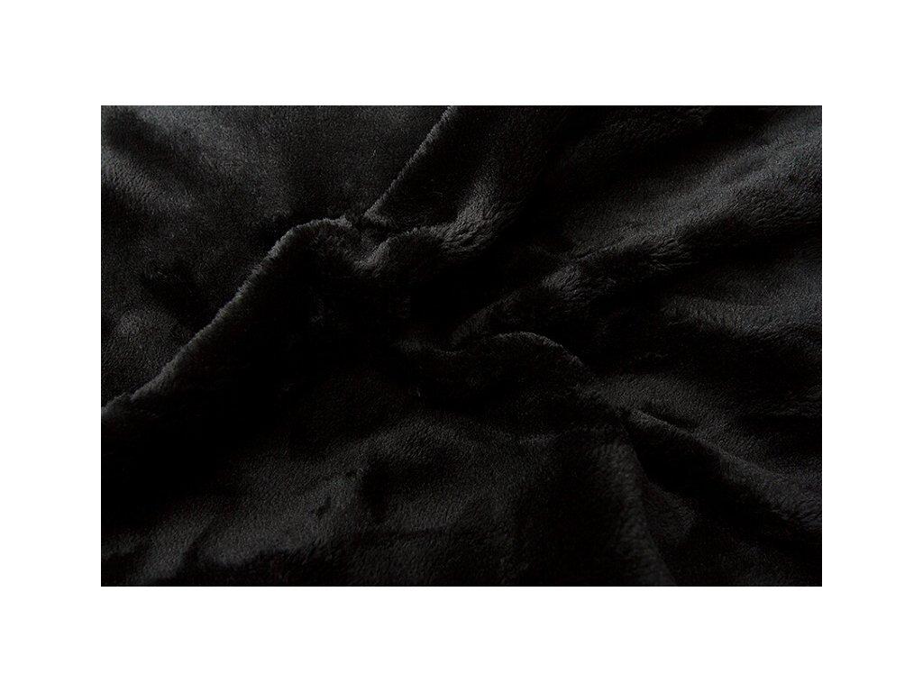 Svitap Prostěradlo mikroflanel černá 90x200 cm
