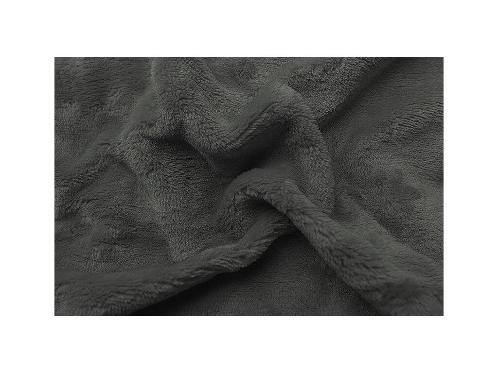 Svitap Prostěradlo mikroflanel tmavě šedá 90x200 cm