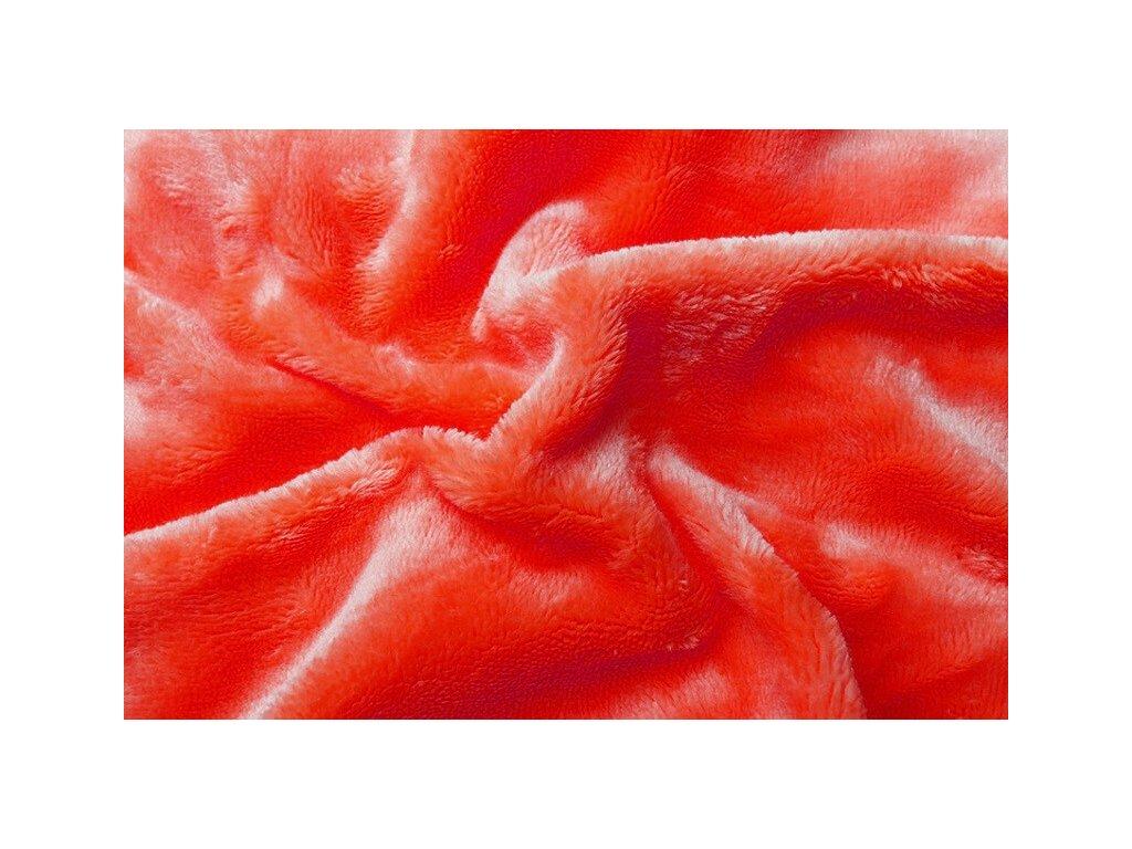 Svitap Prostěradlo mikroflanel oranžová (červený grep)180x200 cm