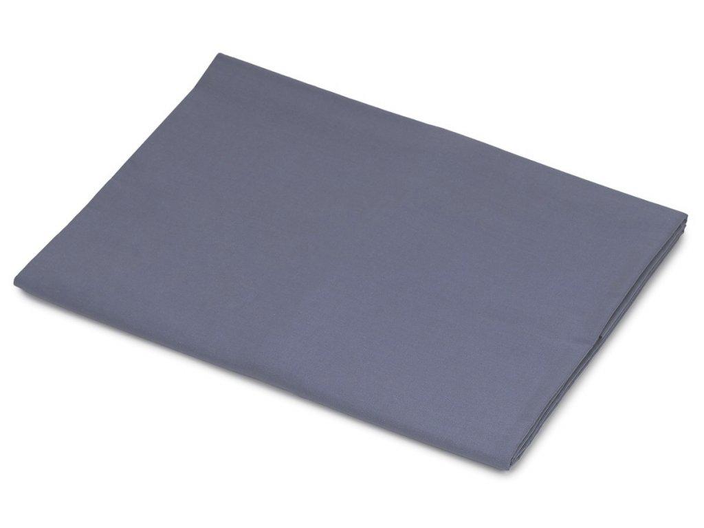 Bavlněné prostěradlo tmavě šedá 140x240 cm