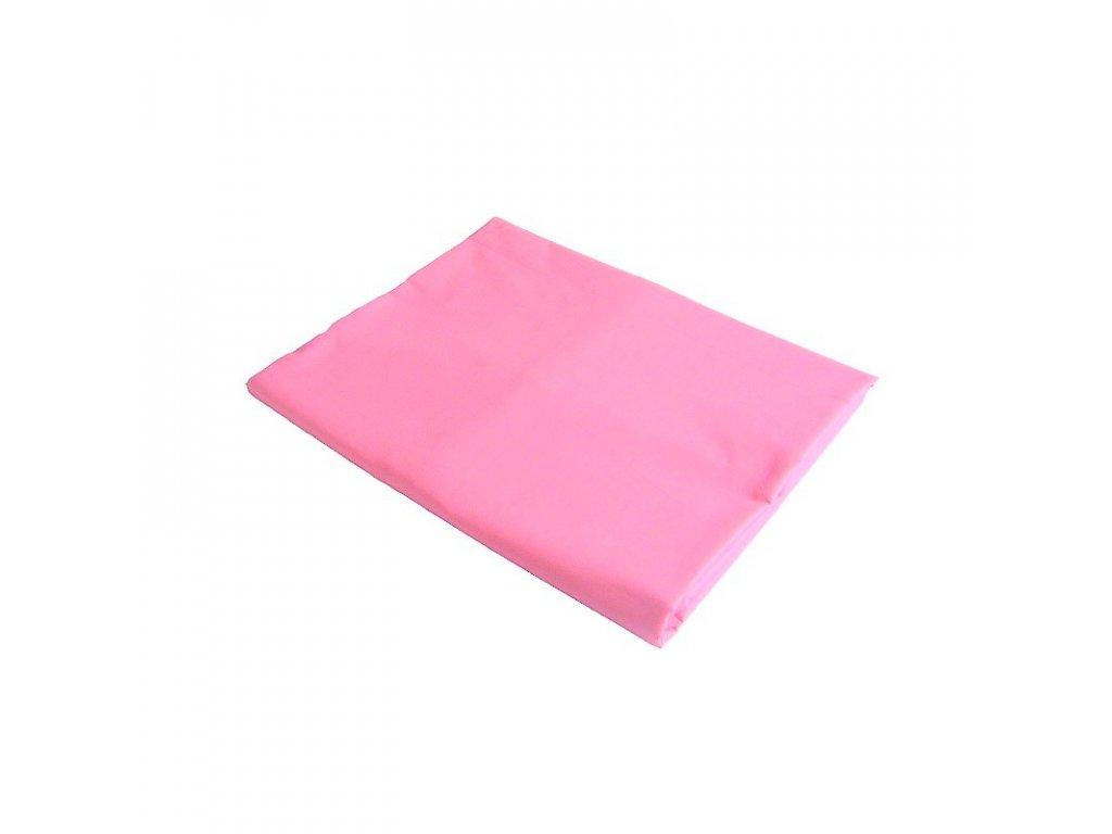 Bavlněné prostěradlo plachta světle růžová 140x240 cm