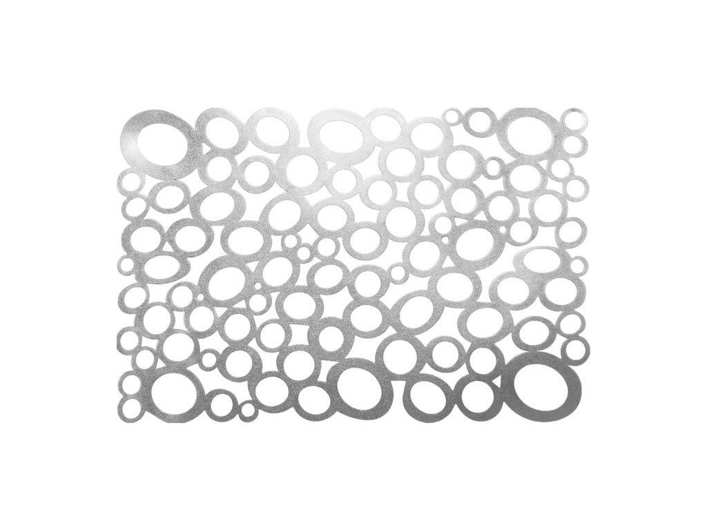 Prostírání NEGRA obdélník 30x45cm Stříbrné
