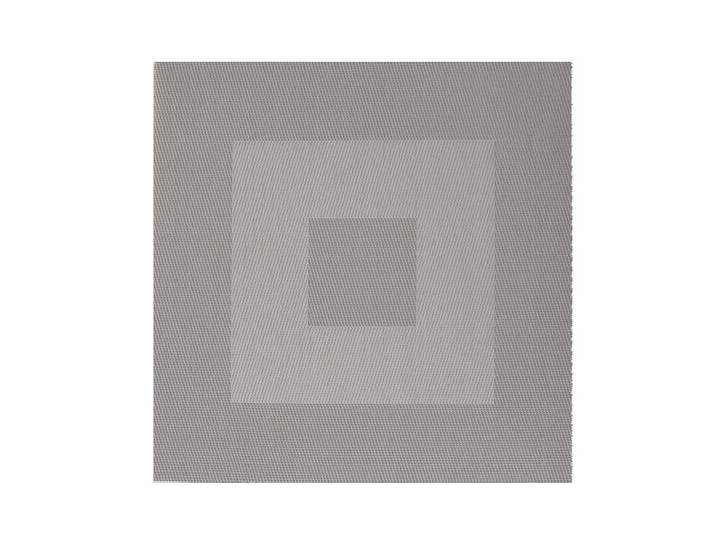 Plastové prostírání HUBERT  35x35cm šedé