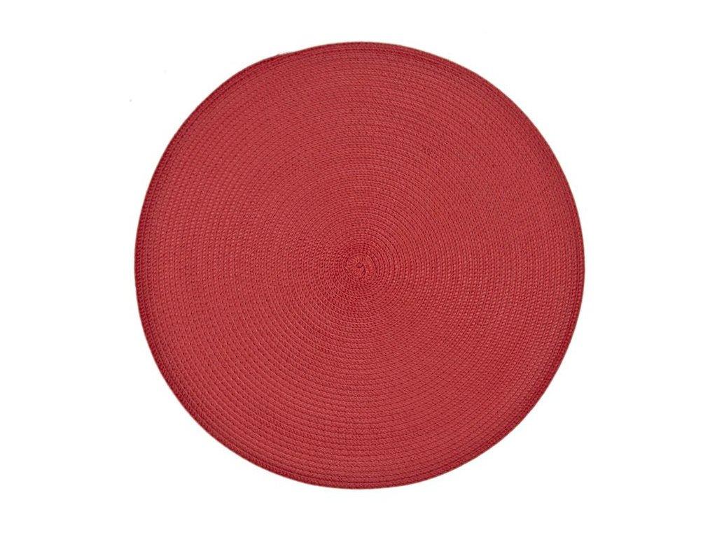 Prostírání kulaté VIVA ,38 cm červené