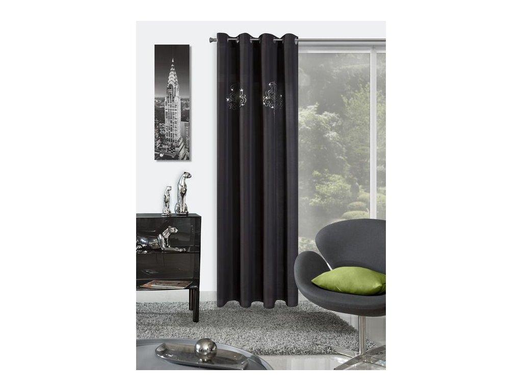 Luxusní závěs YVETTE 140x250 Černý