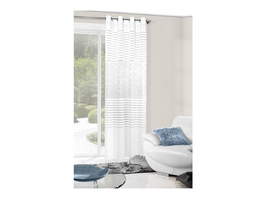 Dekorační závěs/záclona SANDRA bílá 140x250
