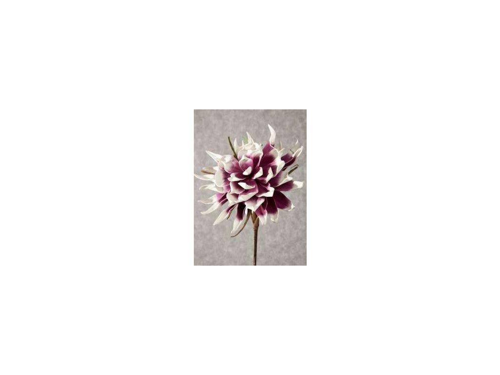 Umělá květina 06 fialovobílá 90 cm