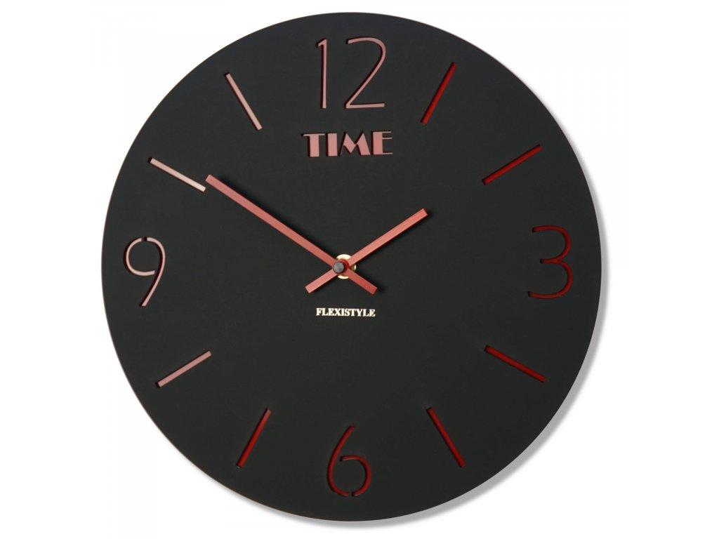 Nástěnné hodiny SLIM černé
