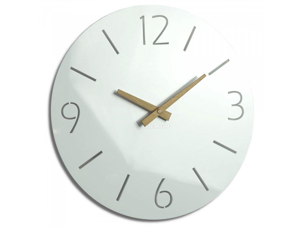 Nástěnné hodiny SLIM bílé