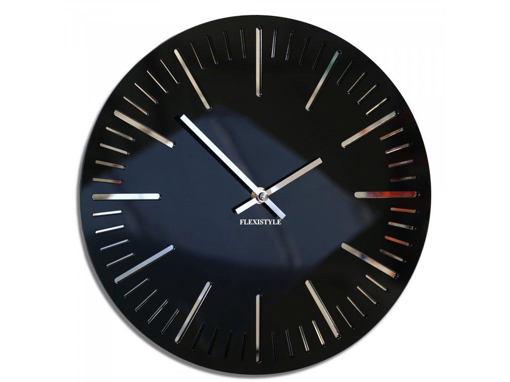 Nástěnné hodiny TRIM černé