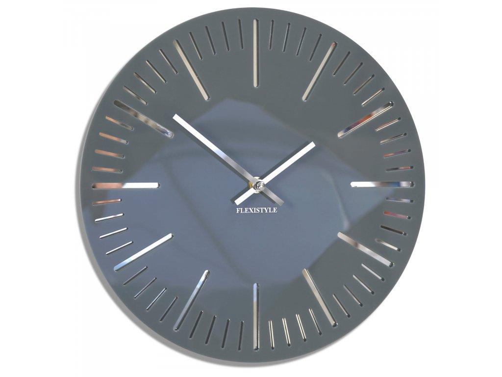 Nástěnné hodiny TRIM šedé