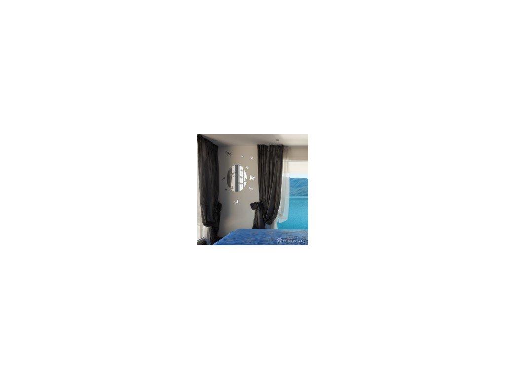Samolepící dekorace zrcadlová  BUTTERFLIES 60 X 45