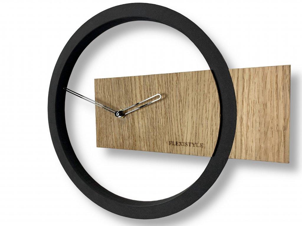 Nástěnné hodiny Wood Oak Přírodní