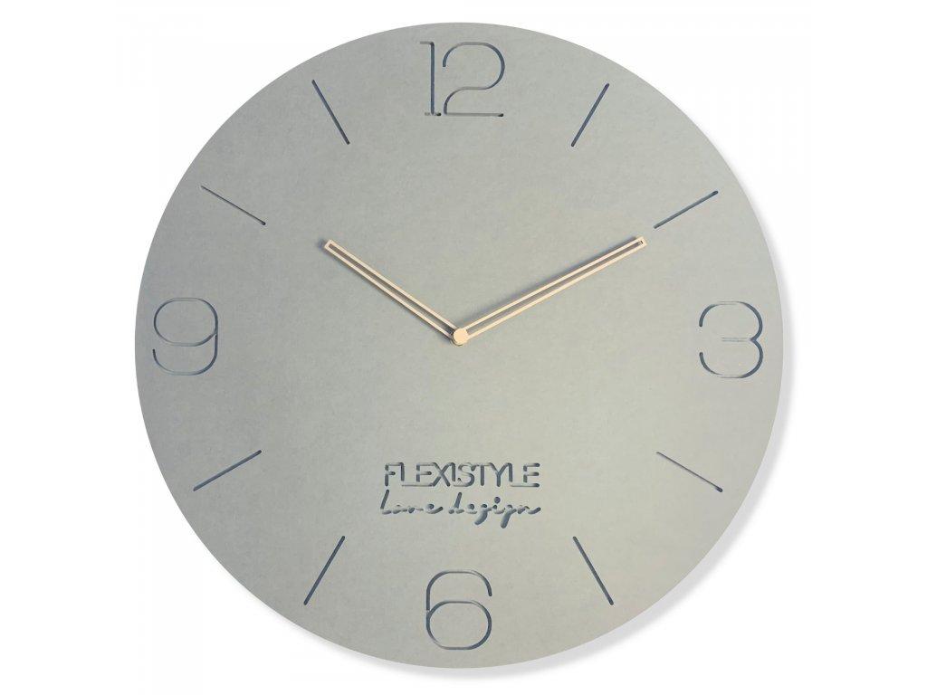 Nástěnné hodiny EKO kulaté 50cm Šedé