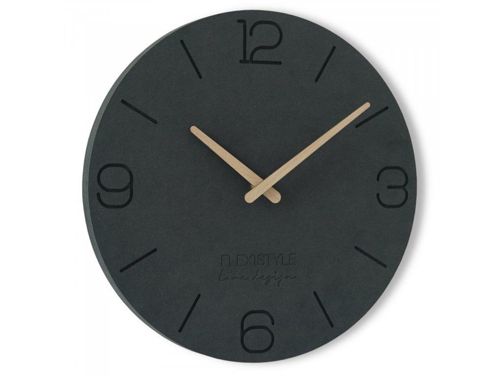 Nástěnné hodiny EKO 3 - 30cm Černé