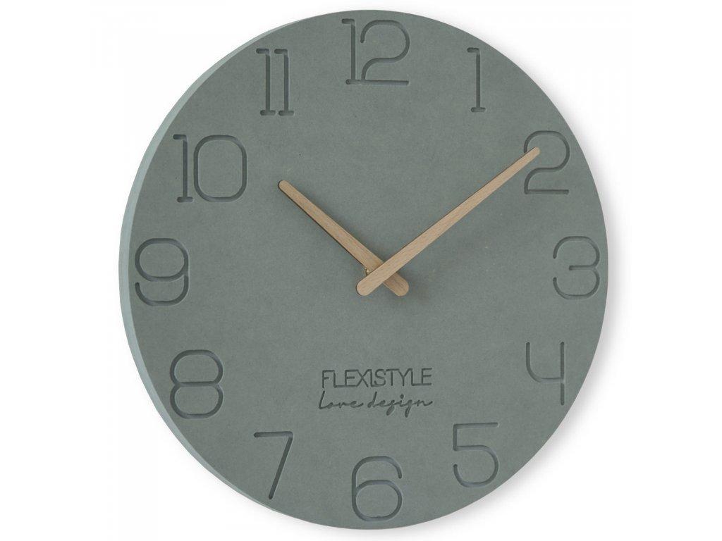 Nástěnné hodiny EKO kulaté 6 - 30cm Šedé