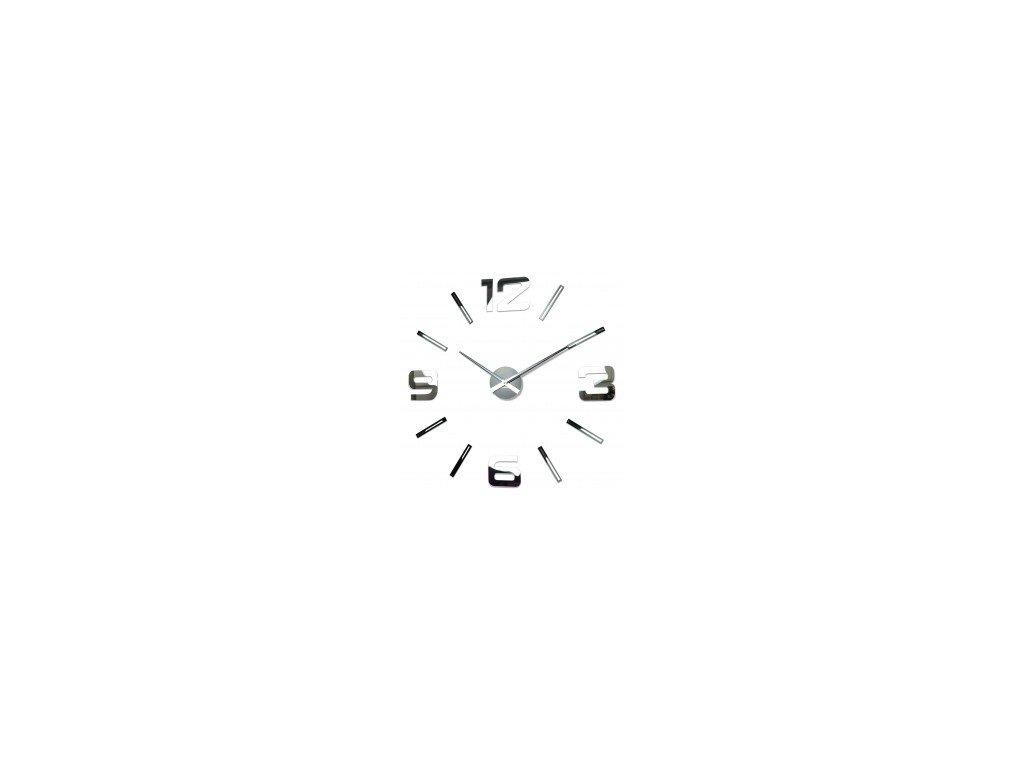 Nástěnné hodiny DIY Admirable 100-130cm zrcadlové