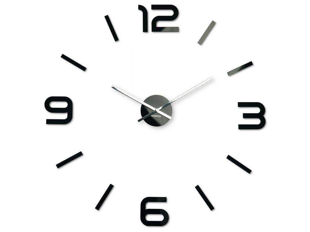 Nástěnné hodiny DIY Admirable 80cm černé