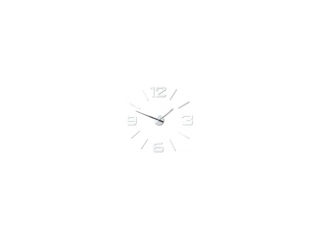Nástěnné hodiny DIY Admirable bílé