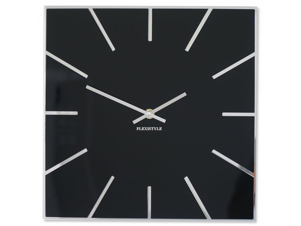 Nástěnné hodiny EXACT 50cm černé