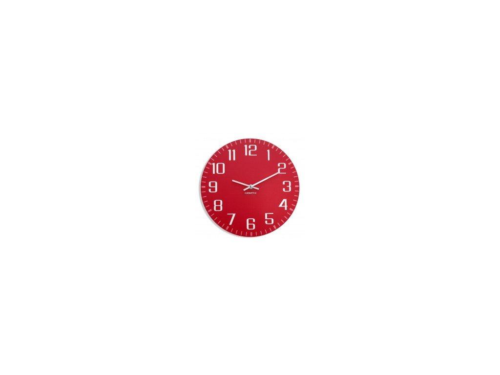 Nástěnné hodiny FACILE Červené