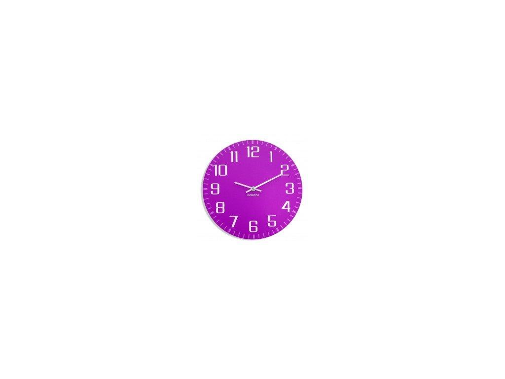 Nástěnné hodiny FACILE Fialové
