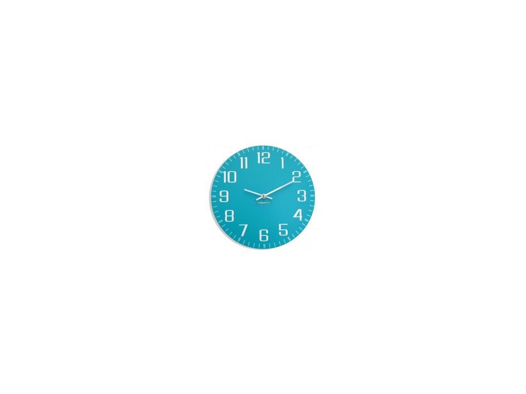 Nástěnné hodiny FACILE Tyrkysové