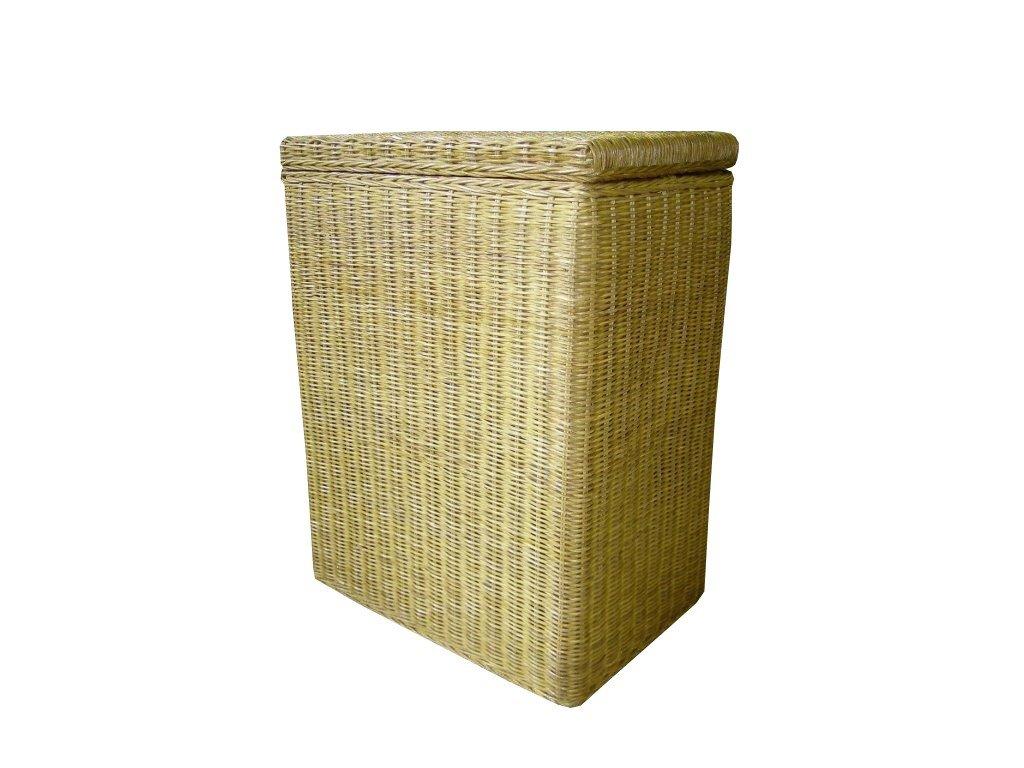 Ratanový koš na prádlo 45x30x60 cm Světlý med
