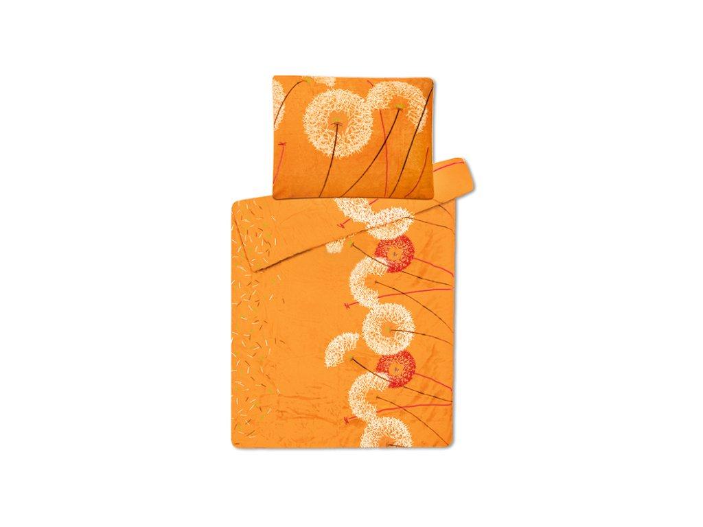 Povlečení mikroflanel Pampeliška oranžová
