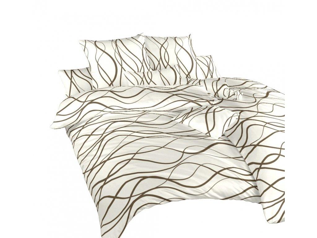 Povlečení bavlna Vlny hnědé
