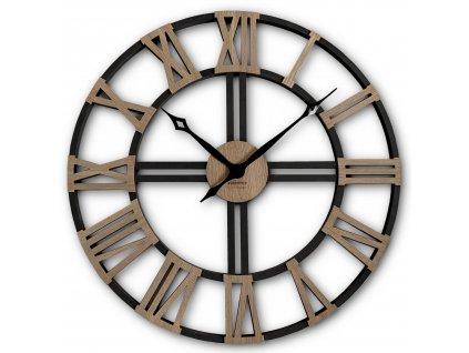 Nástěnné hodiny WOOD LOFT GRANDE 80cm