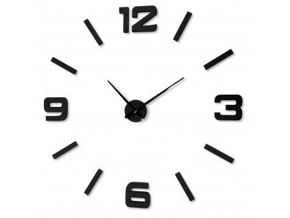 Velké nástěnné hodiny EKO STICK ČERNÉ