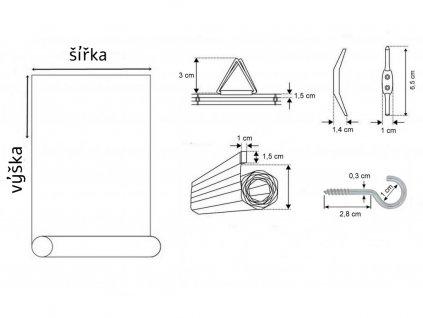bambusové rolety ořech světlý