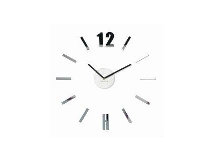 Nástěnné hodiny  DIY Admirable2 50-75cm Stříbrné