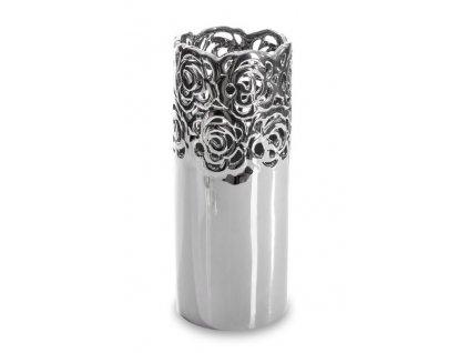 Stříbrná váza RINO