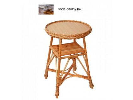 Stůl proutěný - KULATÝ malý
