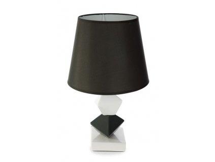 Keramická lampa DEBBIE 46 cm Černá / Bílá