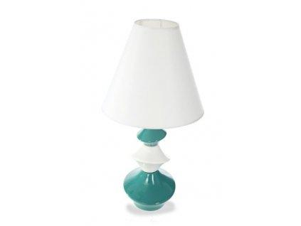 Keramická lampa APRIL 47 cm Tyrkysová
