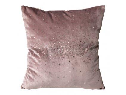 Povlak na polštář 45x45 Kasandra 1 Velvet Růžová