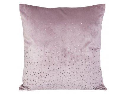 Povlak na polštář 45x45 Kasandra 3 Velvet Růžová