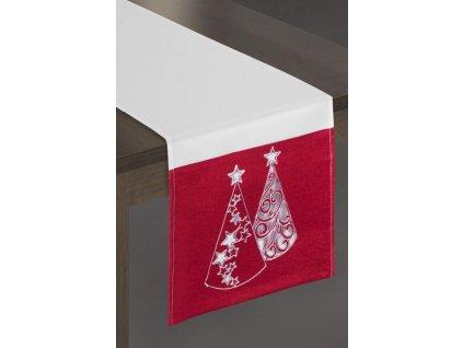 Vánoční středová šerpa MIREN červená 33x140