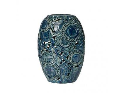 Modrá váza HARIET 33 cm
